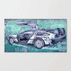 Back To The Future Delorean Canvas Print