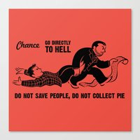 Go To Hell Canvas Print