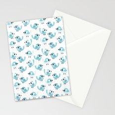 Happy Blue Birds Pattern Stationery Cards