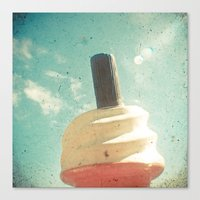 Ice Cream And Chocolate Canvas Print