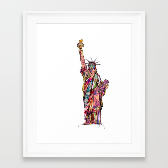 the french gift: statue of liberty Framed Art Print