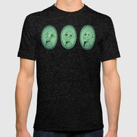 Spitting Image Mens Fitted Tee Tri-Black SMALL