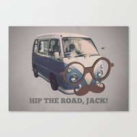 Hip The Road, Jack! Canvas Print