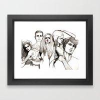 Bad crowd Framed Art Print