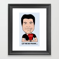 Simon Cowell - the first American Idol Judge Framed Art Print