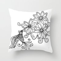 Hummingbird - Picaflor -… Throw Pillow