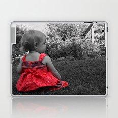 Sitting Red Dress Laptop & iPad Skin