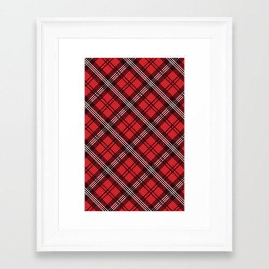 Scottish Plaid (Tartan) - Red Framed Art Print