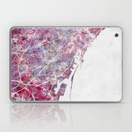 Barcelona Map Laptop & iPad Skin