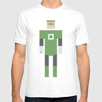 Retro Green Lantern Mens Fitted Tee White SMALL