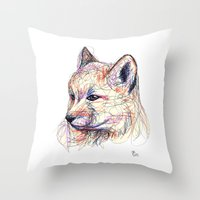 Baby Fox Throw Pillow