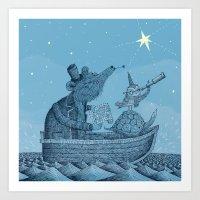 'The North Star' Art Print