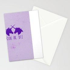 Ride or Die x Unicorns x Purple Stationery Cards