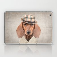 The stylish Mr Dachshund Laptop & iPad Skin