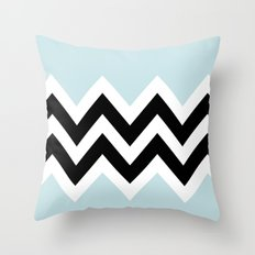 LIGHT BLUE COLORBLOCK CHEVRON Throw Pillow
