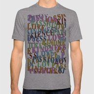 Love #1 Mens Fitted Tee Athletic Grey SMALL