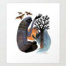 Big Foot's Demons Art Print