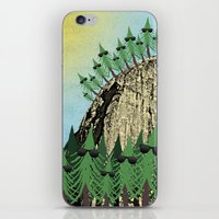 Sunning Trees Print iPhone & iPod Skin