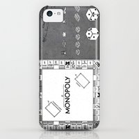 iPhone 5c Cases featuring Monopoly Patent Art Board Game Apparatus black by jbjart