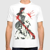 Alexander McQueen Mens Fitted Tee White SMALL