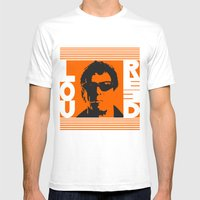 Lou Reed Mens Fitted Tee White SMALL