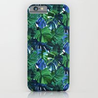 Palm Leaf Blue Green iPhone 6 Slim Case