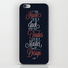 JACK OF ALL TRADES iPhone & iPod Skin