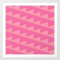 Pink Ascent Art Print
