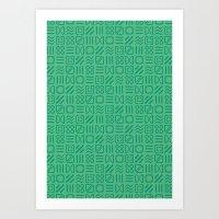 Symbol Sudoku Art Print