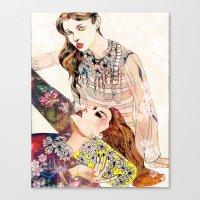 Fashion Necklace  Canvas Print