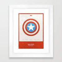 Captain America - minimal poster Framed Art Print