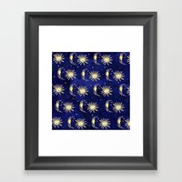 Cosmos Sun Moon And Star… Framed Art Print