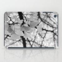 Black & White Ginkgo  iPad Case