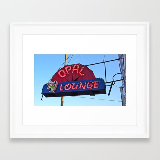 Historic neon Framed Art Print