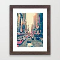 Times Square Traffic Framed Art Print