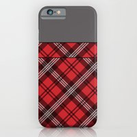 Scottish Plaid (Tartan) - Red iPhone 6 Slim Case