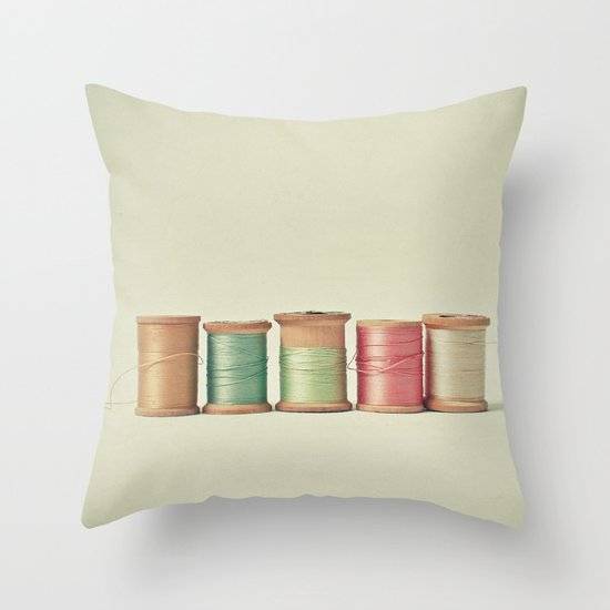 Five in a Row Throw Pillow