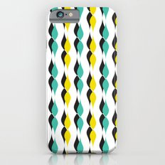 turquoise and yellow petal lines  Slim Case iPhone 6s
