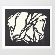 Abstract Black White Art Print