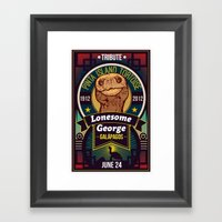 Lonesome George Framed Art Print