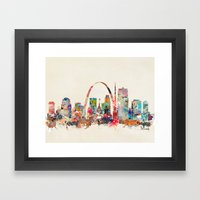 st louis missouri Framed Art Print