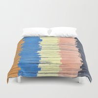 Textured Stripes Abstract Duvet Cover