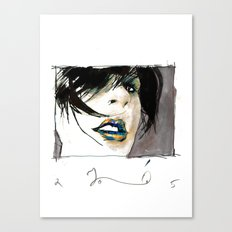lady opiate Canvas Print