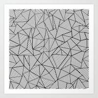 Abstraction Lines #2 Bla… Art Print
