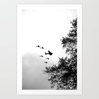 Wartime Salute, black&white Art Print