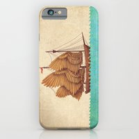 feathers iPhone & iPod Cases featuring Winged Odyssey by Terry Fan
