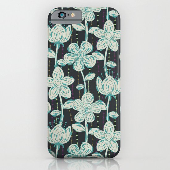 My grey spotted flowers. iPhone & iPod Case