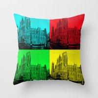 York Minster Pop Art Throw Pillow