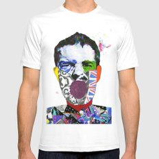 Mr Brandon Flowers, Hey Hot Stuff! White Mens Fitted Tee SMALL