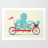My Red Bike Art Print